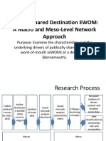 Publicly Shared Destination EWOM