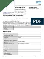 NHS Standard Application Form