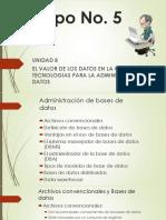 EL VALOR DE LOS DATOS EN LA ORGANIZACIÓN