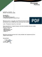 Contoh Permohonan ISBN