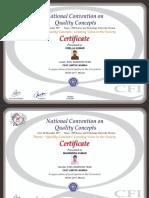 7312 Exel Warriors Certificate