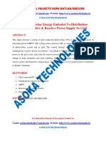 Analysis of Solar Energy Embeded to Distribution Grid for Active Reactive Power Supply to Grid