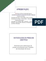 Metodologia Da Pesquisa Científica. (MPC)