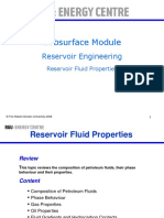 Reservoir Fluid Properties