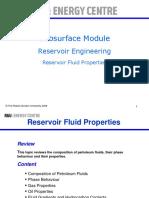 Reservoir Fluid Properties