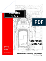 Howard Berg; Reading 1 & 2 Reference Material