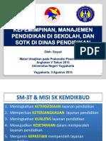 Bahan Prakondisi SOTK Dan MP Di Sekolah(Pak Suyud)