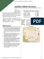 _Novo Santo Antônio (Mato Grosso) – Wikipédia, A Enciclopédia Livre