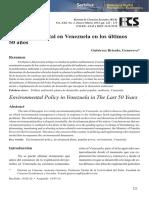 política ambiental de Venezuela