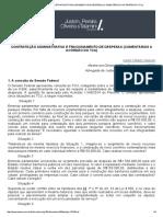 Contratação Administrativa e Fracionamento de Despesas (Comentários a Acórdão Do Tcu)