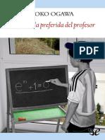 Ogawa, Yoko - La formula preferida del profesor [3145] (r1.1 jugaor).epub