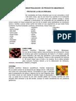 Frutas de La Selva Peruana