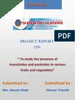 Chemistry project on pesticietes