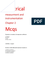 Electrical Measurment and Instrumentation Mcqs Ch 2