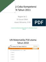 Quis Uji Coba Kompetensi UN Matematika SMP/MTs
