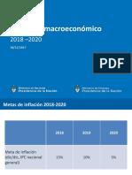 Escenario macroeconómico 2018 - 2020
