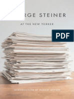Steiner, George - At the New Yorker (New Directions, 2009)