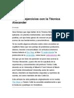 Algunos ejercicios con la Técnica Alexander.pdf
