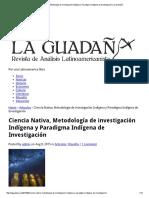 Ciencia Nativa e Investigación