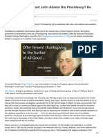 Newenglandhistoricalsociety.com-Did Thanksgiving Cost John Adams His Presidency He Thought It Did