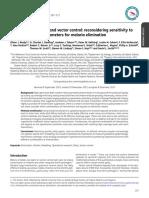 Vectorial Capacity and Vector Control