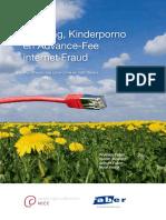 Phishing, Kinderporno en Advance-Fee internet Fraud Hypothesen van cybercrime en haar daders