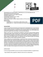 [Centro de Línguas Da Acepusp] Programa Espanhol 2018