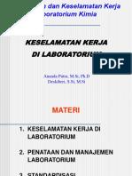 Pengelolaan Dan Keselamatan Kerja Laboratorium Kimia_2sks