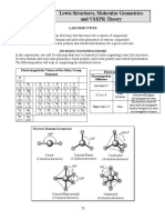 (Exp 14) Lewis Structures, Molecular Geometry