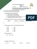 1 Quimestre - 10mo MATEMATICAS 2