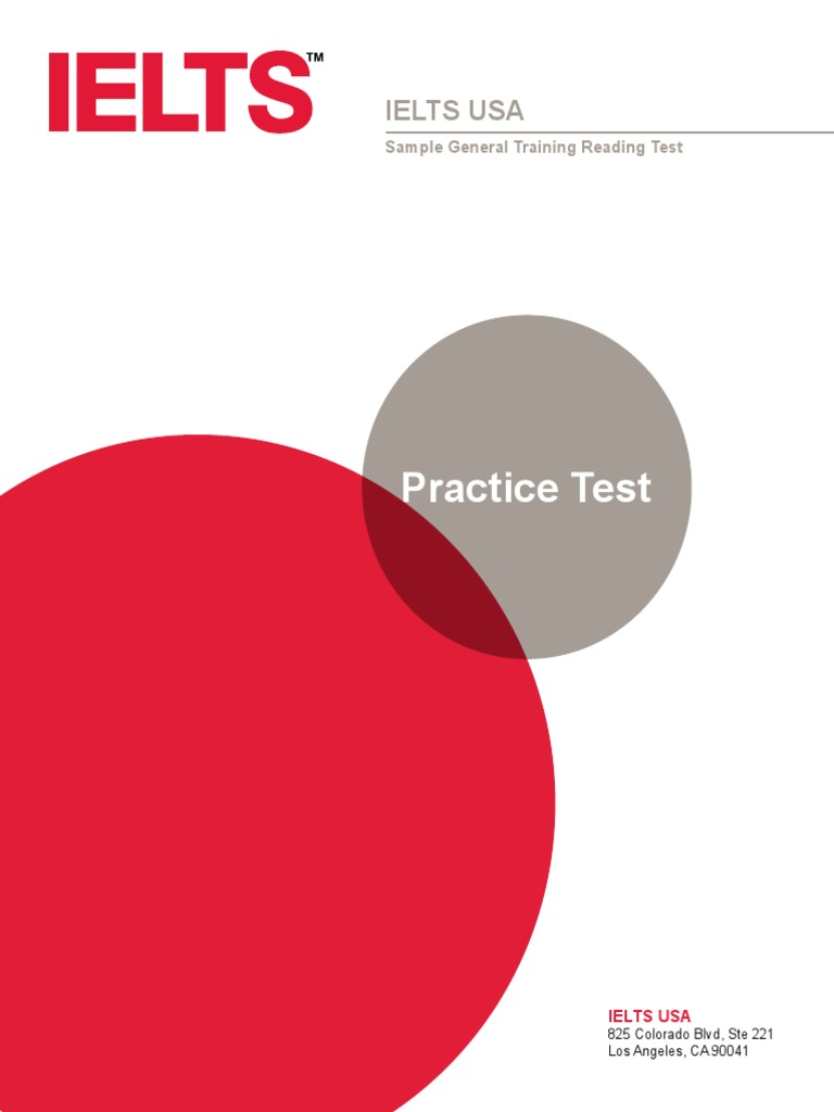 ielts-usa-practice-general-training-reading-test pdf | Common Cold