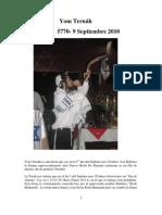 Yom Teruah 1 Tishrei 5770 9 Sep 2010