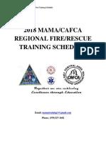 2018 MAMA/CAFCA Regional Fire/Rescue Training Schedule