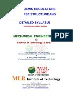 b.tech Mech Mlrit Syllabus r 16