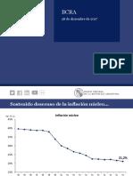 Banco Central - Informe sobre índices económicos