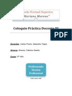 Coloquio Práctica Docente III