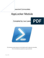 Powershell Commandlets - AppLocker Module