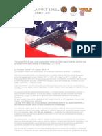 Abel Domenech - 02º Pistola Colt 1911 Calibre .45 ACP