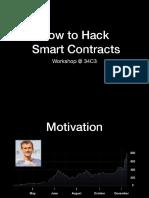 34C3 Smart Contract Hacking