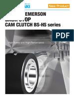 BS-HS Series CAM Clutch - Catalogue