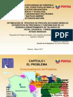 Presentación1MarlysOPTIMIZACIÓN DE  PROCESOS DE PROCURA APLICANDO MODELOS ESTADÍSTICOS DE FRECUENCIA Y CONFIABILIDAD EN  LA  GERENCIA DEMANTENIMIENTO DE TALADROS DE PDVSA. DIVISIÓN EL  FURRIAL ESTADO MONAGAS
