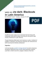 Left in the Dark Blackouts in Latin America