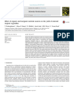 Effect of Organic and Inorganic Nutrient Sources on the Yield of Selected
