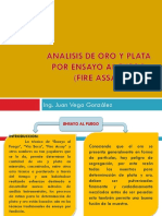 Analisis de Oro Fire Assay
