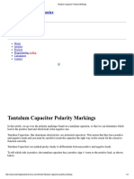 Tantalum Capacitor Polarity Markings
