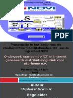Presentatie in het kader van de studierichting Bedrijfskundige ICT  aan de Hogeschool NOVI