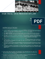 Fair Trial Due Process