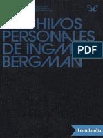 AAVV - Los Archivos Personales de Ingmar Bergman