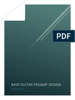 Bass Guitar Preamp Design