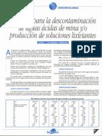 4 Bacterias para la Descontaminaci¢n de Aguas Acidas de Mina y-o Productos de Soluciones Lixiviantes